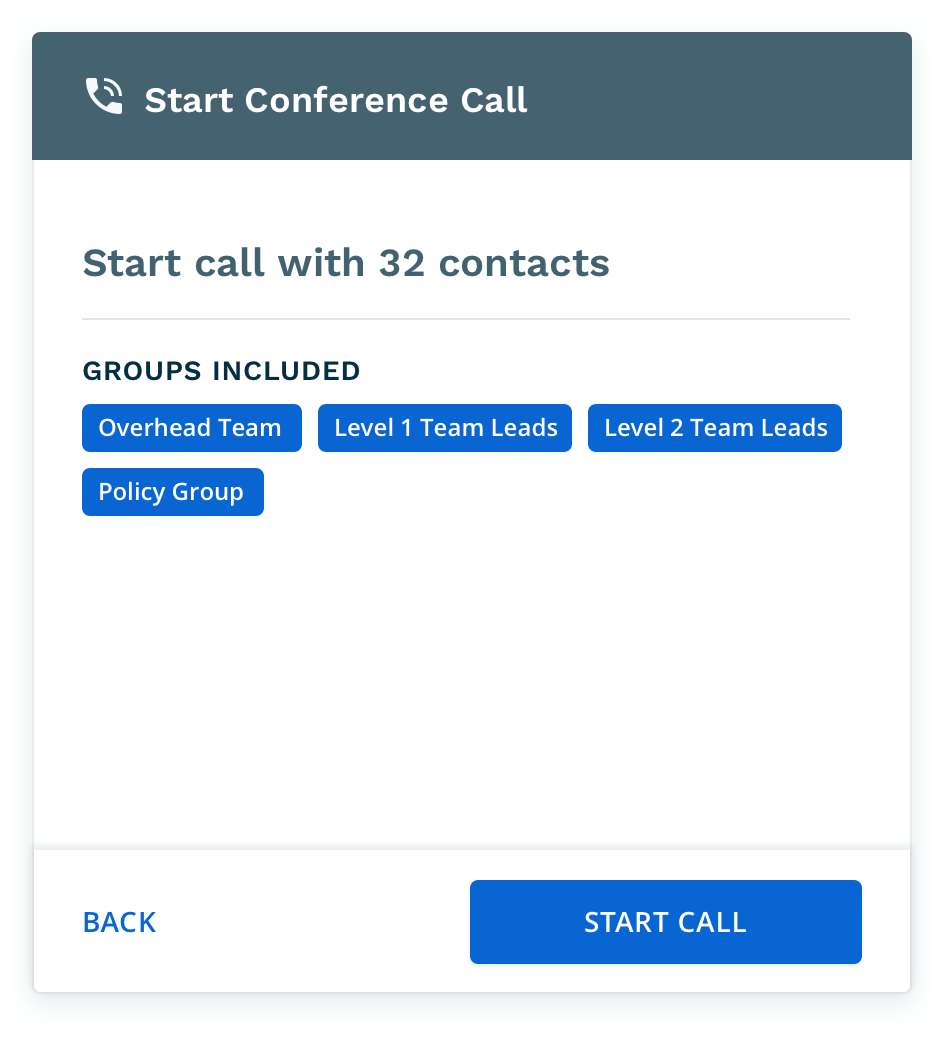 On-Demand Conference calls
